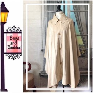 BURBERRY Pale Beige Trench Cape, Size M/L | NWT
